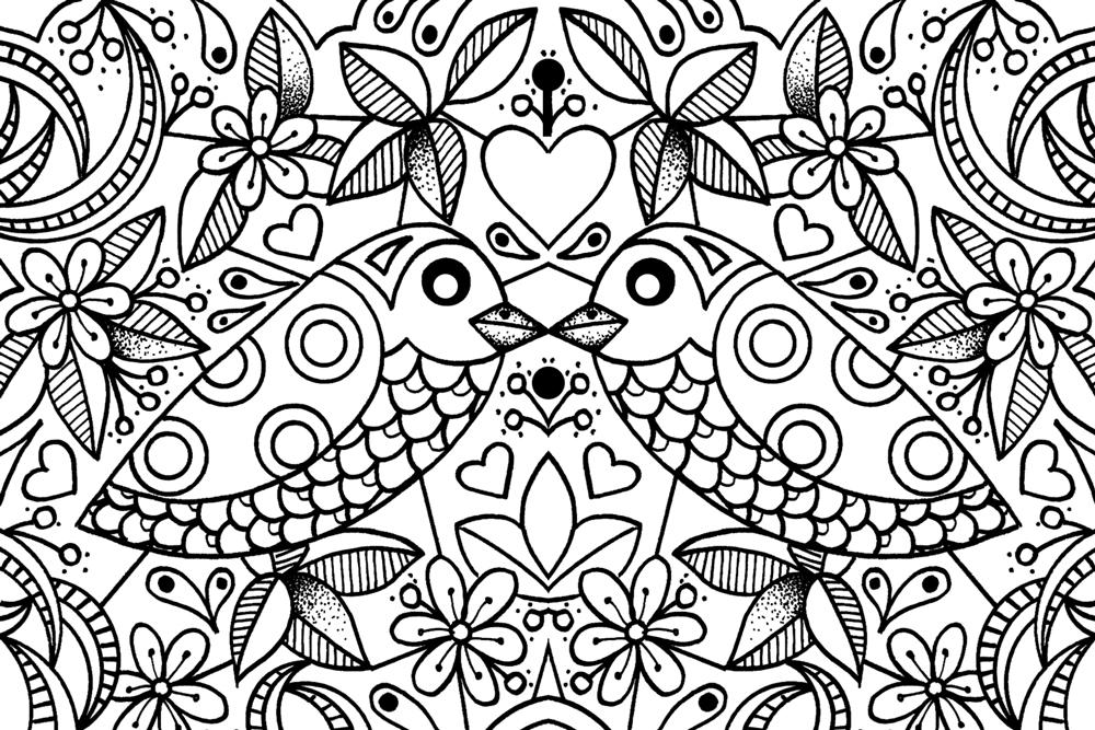 Georgina Westley Art • Design | 'Colouring in' therapy