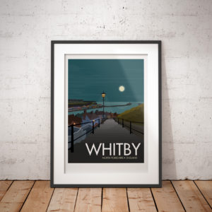 Whitby Travel Poster Framed