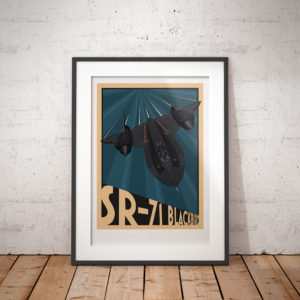 Framed Lockheed SR-71 Blackbird poster