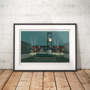 Stevenage Town Travel Poster