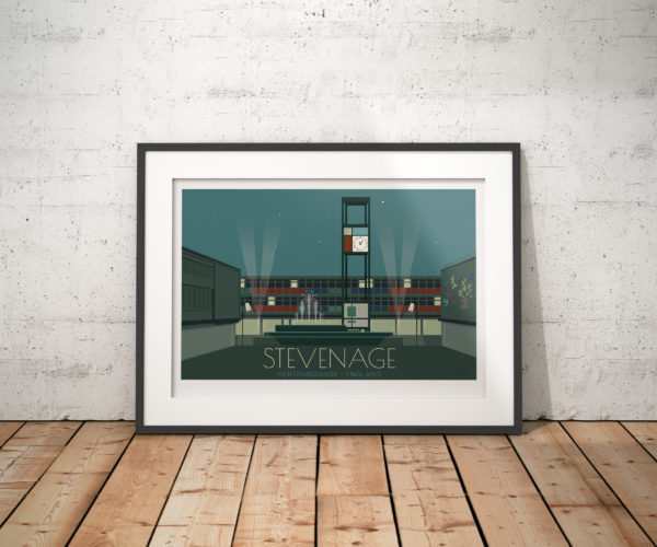 Stevenage Town Travel Poster
