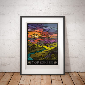 Yorkshire God's Own stained glass print